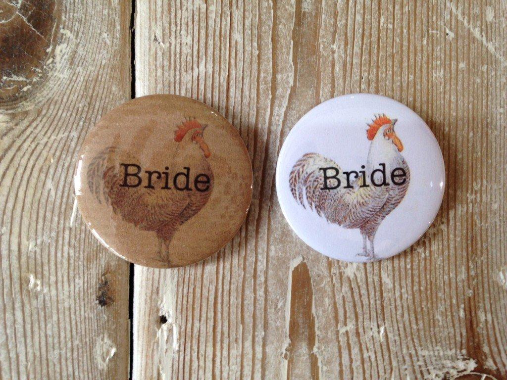Badge Bride Kraft Hen - thefancyhen.ie