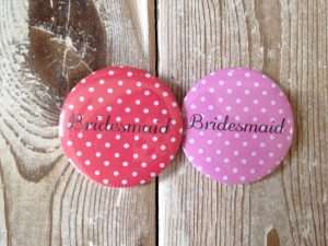 Badge Polka Dot Bridesmaid - thefancyhen.ie