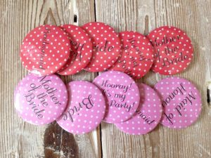 Badge Polka Dot Mother of the Bride - thefancyhen.ie