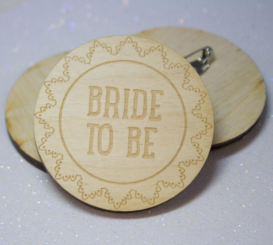Badge Rustic Bride to be - thefancyhen.ie