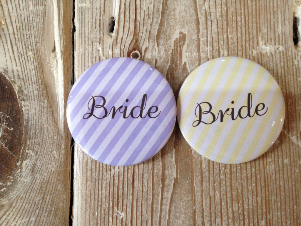 Badge Stripe Bride - thefancyhen.ie