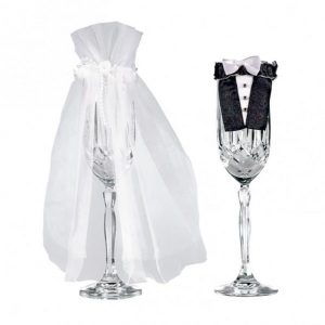 Bride & Groom Stemware Decor - thefancyhen.ie