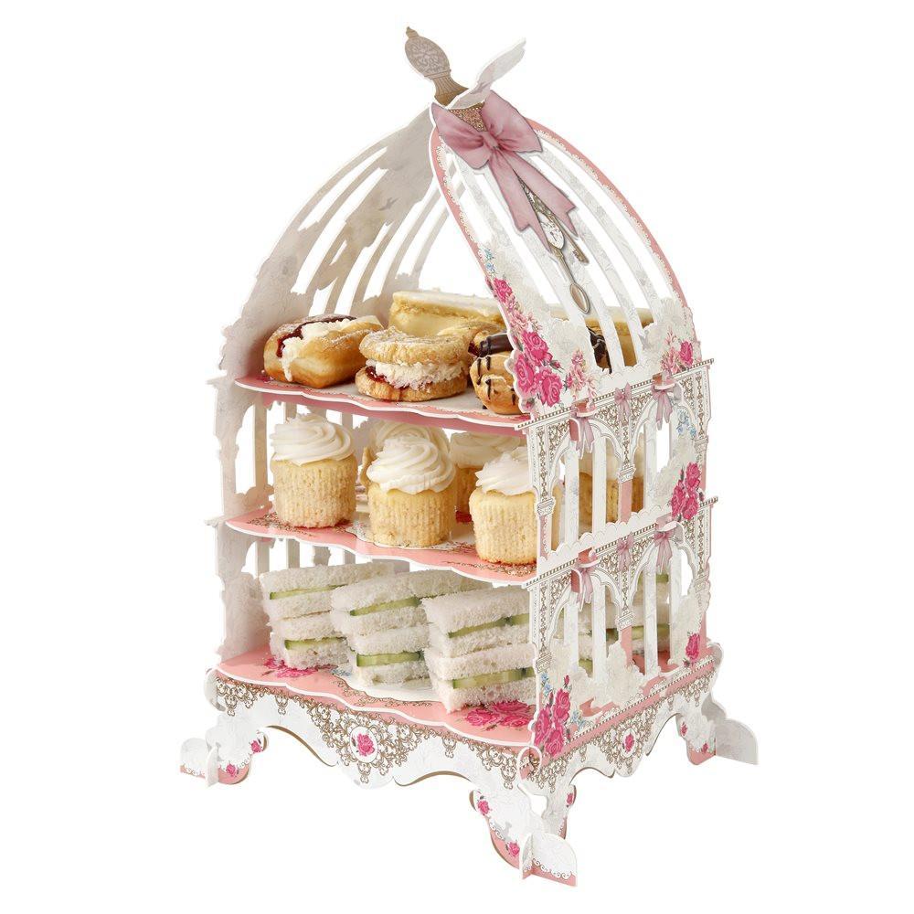 Cake Stand Vintage 3 Tier Bird Cage - thefancyhen.ie