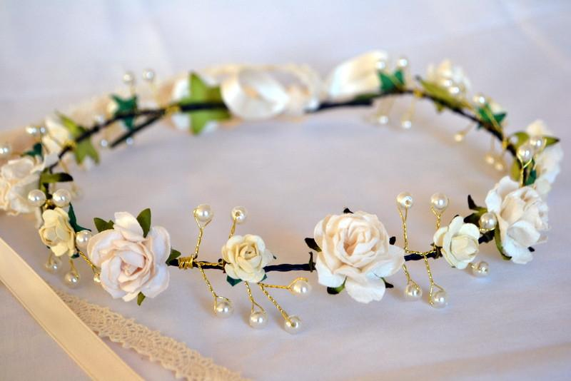 Crown Gold Detail Pearl & Floral - thefancyhen.ie