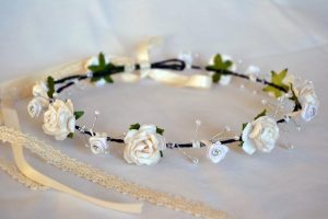 Crown Silver Detail Pearl & Floral - thefancyhen.ie