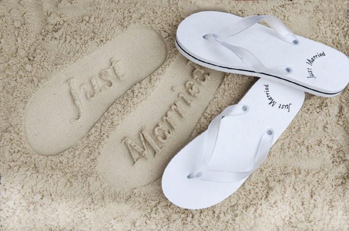 8ef5a05f0240 Just Married Flip Flops Ladies - thefancyhen.ie