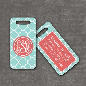 Luggage Tag Cobblestone - thefancyhen.ie