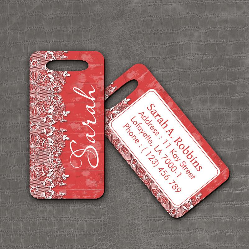 Luggage Tag Floral - thefancyhen.ie