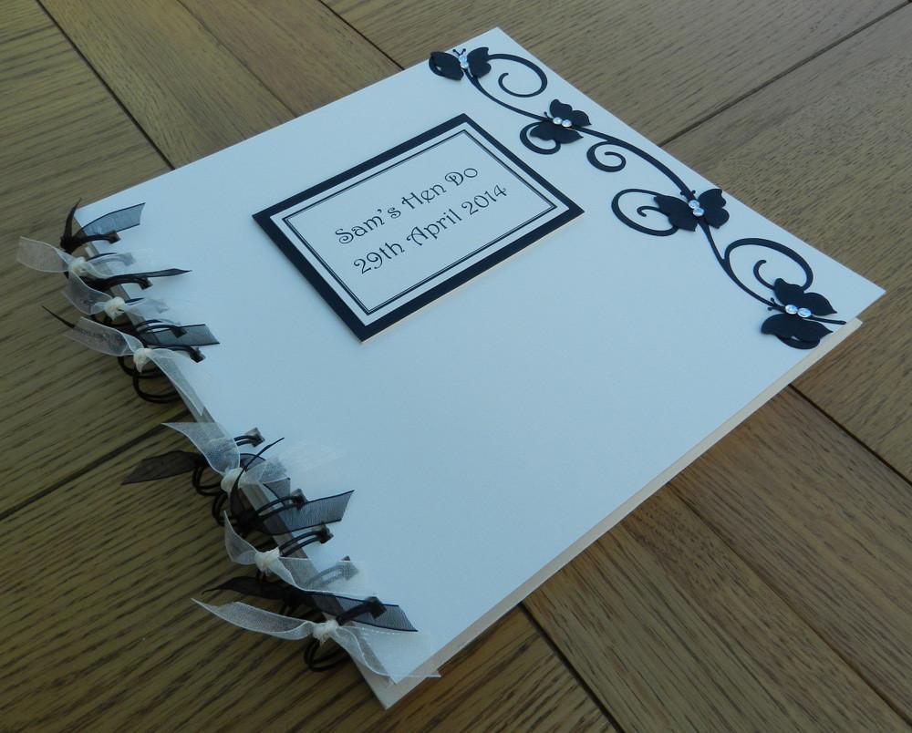 Memento Book Black Butterfly Style - thefancyhen.ie