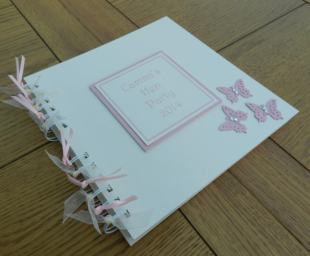 Memento Book Pink Butterfly Style - thefancyhen.ie
