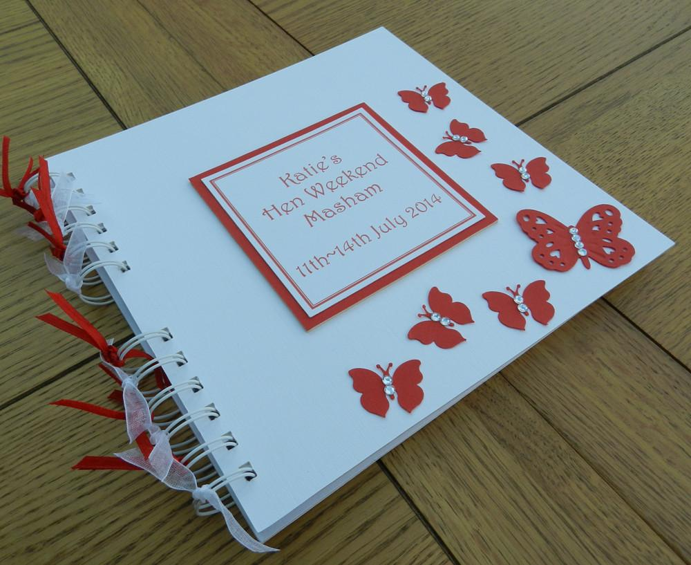 Memento Book Red Butterfly Style - thefancyhen.ie