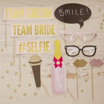 Pastel Perfection Wedding Photo Props - Ginger Ray - thefancyhen.ie