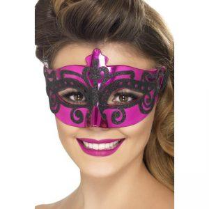 Pink Venetian Mask - thefancyhen.ie