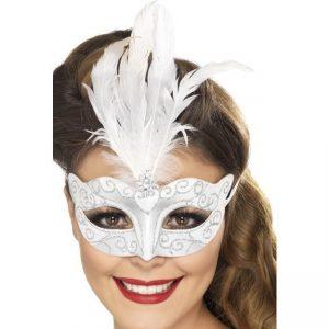 Silver Venetian Mask - thefancyhen.ie