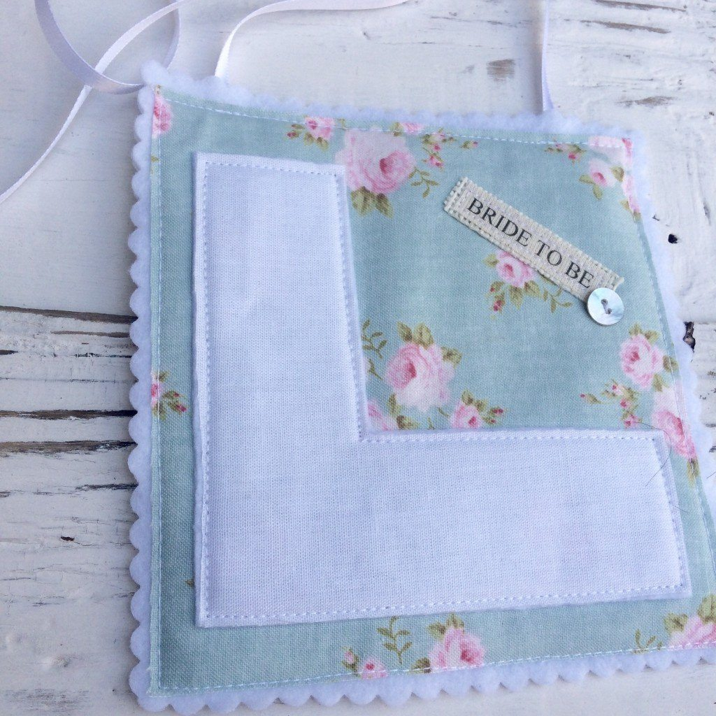 Teal Millie Hessian L Plate - thefancyhen.ie