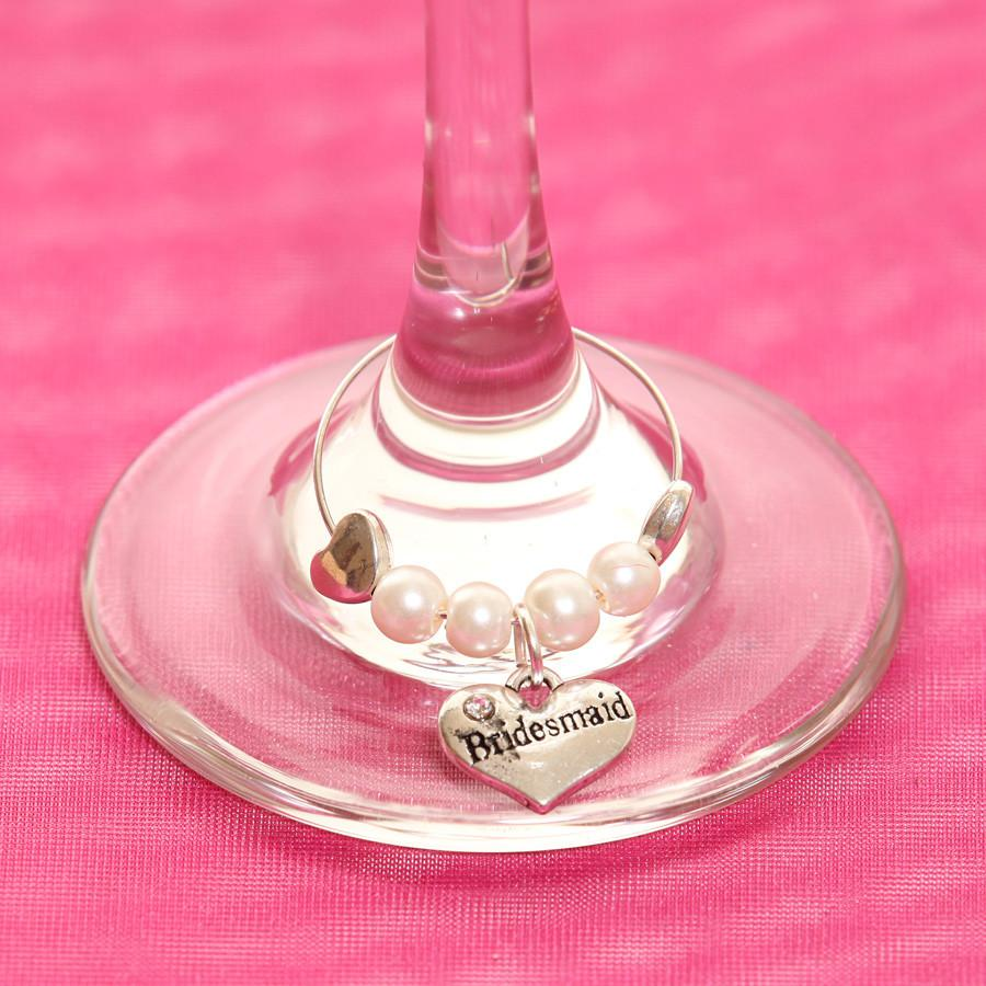 Wine Glass Charm Bridesmaid - thefancyhen.ie
