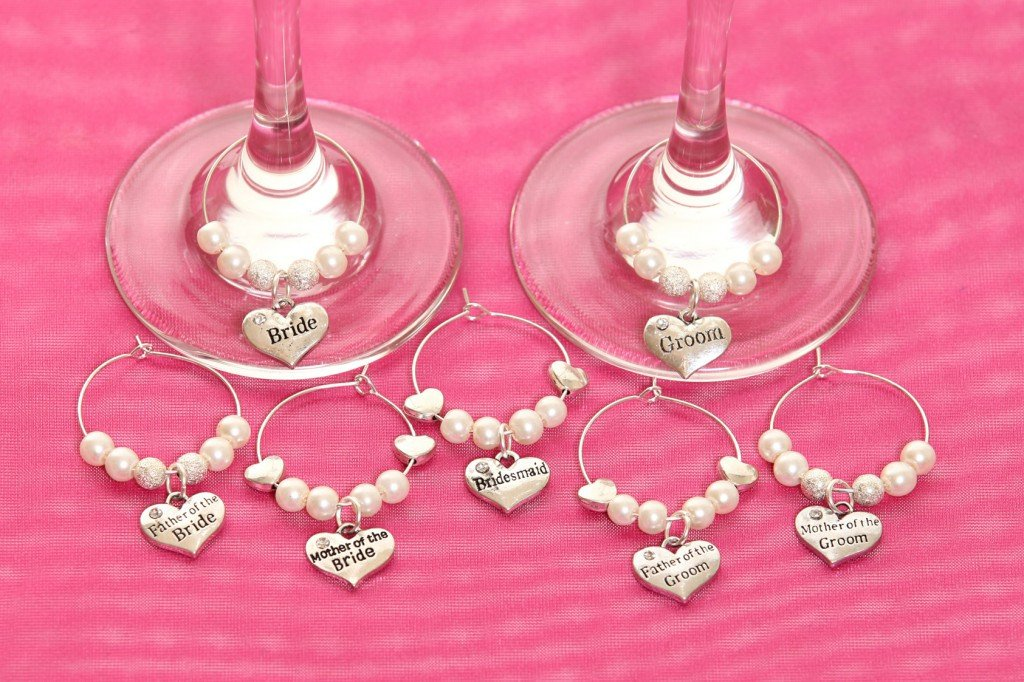 Wine Glass Charm Mother of the Bride - thefancyhen.ie