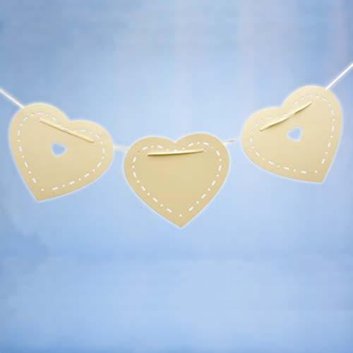 Bunting Ivory Heart - thefancyhen.ie