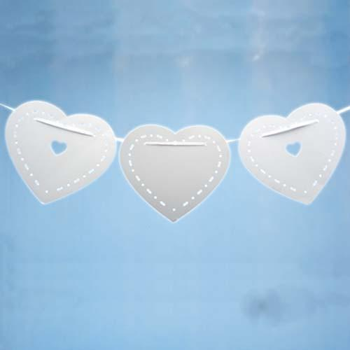 Bunting White Heart - thefancyhen.ie