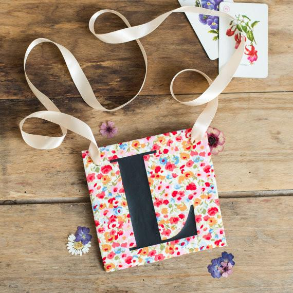 L Plate Ditsy Floral - thefancyhen.ie