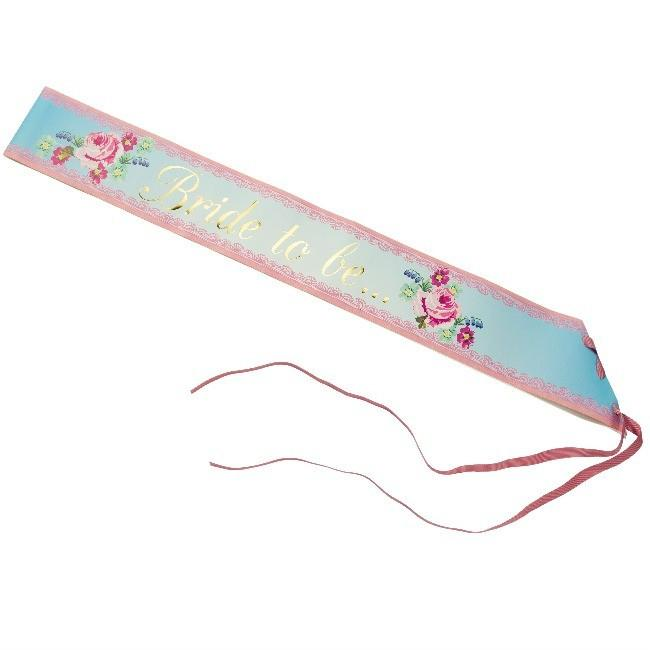 Bride to Be Sash Floral - thefancyhen.ie