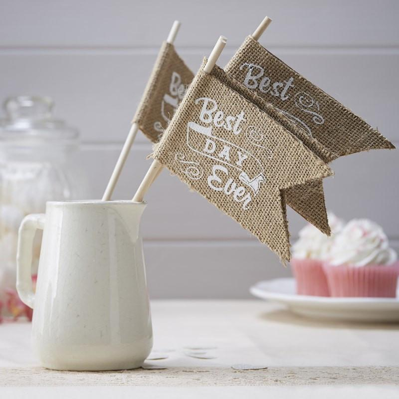 Best Day Ever - Hessian Flags - thefancyhen.ie