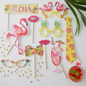 Ginger Ray - Flamingo Fun Photo Props - thefancyhen.ie