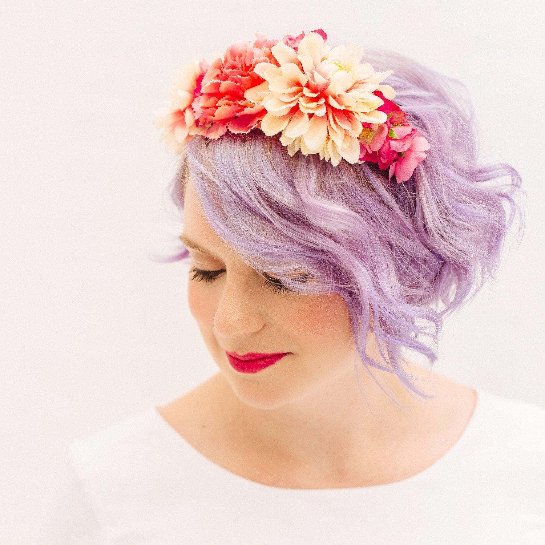 Shella Floral Headband - Pink - thefancyhen.ie