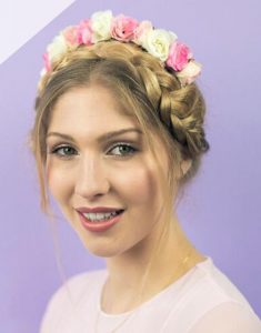 Tea Rose Headband - Pink - thefancyhen.ie